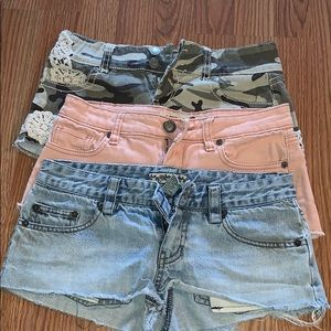 3 pair of shorts